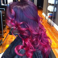 Long purple and pink hair