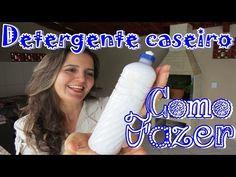 COMO FAZER DETERGENTE CASEIRO DE COCO, fácil, rápido e eficaz - Fran Adorno - YouTube