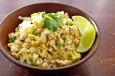 Thai Fried Rice with brown rice.  Add chicken and shrimp and carrots - Yum!