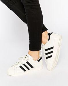adidas Originals Superstar 80's Deluxe White & Black Sneakers