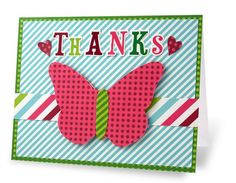 Thanks Holidazzle Butterfly Card Project Idea from Creative Memories