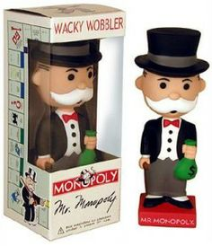 FUNKO MR MONOPOLY WACKY WOBBLER BOBBLEHEAD Vinyl Figures, Action Figures, Monopoly Theme, Wacky Wobbler, Bobble Head, New Toys, Wonderful Things, Old And New, Party Themes