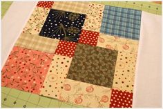 Disappearing nine patch   Moda Bake Shop: Table Topper would also look so cute with 1930s fabrics
