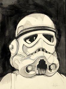 Storm Trooper by Adele van Heerden Affordable Art, Adele, Online Art, Van, Portraits, Gardening, Fictional Characters, Garten, Lawn And Garden