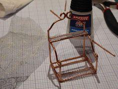 Net på miniature hylde med tyl - tutorial
