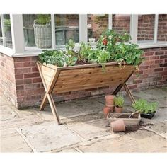 Wooden Timber Raised Bed Planter for Gardening Vegetables, Herbs, Salad & Fruit | eBay