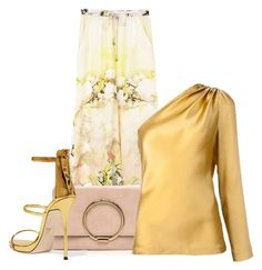 """""""Gold and Pale Pink"""" by paperdollsq ❤ liked on Polyvore featuring Giuseppe Zanotti and Cushnie Et Ochs"""