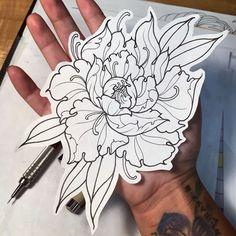 How o draw a flower tattoo. Future Tattoos, Love Tattoos, Body Art Tattoos, Tatoos, Kunst Tattoos, Tattoo Drawings, Tattoo Motive, I Tattoo, Piercing Tattoo