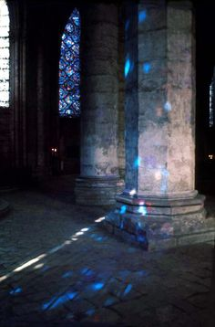 Chartres Cathedral, FRANCE  A must see at sunrise or sunset when the sun meets Chartres' stained glass blues in a silent, spiritual show of blue light.