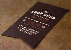 The Chop Shop | Love the shape of business card. Would be perfect for SCD since I use the ribbon everywhere.