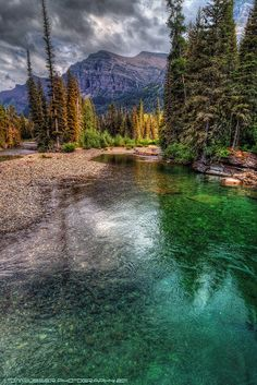 Saint Mary River in Glacier National Park