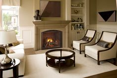 Let the Fireplace Experts at Fireside Hearth & Home help you choose your own Heat & Glo TRUE Series Gas Fireplace. Indoor Gas Fireplace, Direct Vent Gas Fireplace, Vented Gas Fireplace, Fireplace Set, Fireplace Inserts, Living Room With Fireplace, Fireplace Design, Gas Fireplaces, Fireplace Ideas