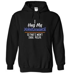 I hug my XOLOITZCUINTLI so that I Won't choke people T Shirts, Hoodies. Get it here ==► https://www.sunfrog.com/Pets/I-hug-my-XOLOITZCUINTLI-so-that-I-wont-choke-people-9013-Black-14480208-Hoodie.html?41382 $39.99
