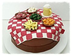 Food Cakes, Bolo Fake, Fathers Day, Party Time, Waffles, Cake Recipes, Biscuits, Cake Decorating, Birthday Cake