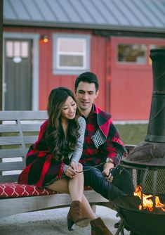 cozy holiday men & womens outfit by the fire  // napa valley couples getaway