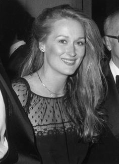 Meryl Streep is 1) clearly not aging (this picture is from 1979) and 2) Stunningly beautiful (and talented)!