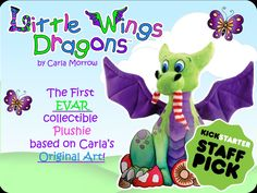 Carla Morrow is raising funds for Little Wings Dragon Plush: a baby dragon to cuddle and love. on Kickstarter! An ADORABLE, cuddly baby dragon plushie for you to hug and love! Brought to life from the world of Little Wings Dragons by Carla Morrow Dragon 2, Baby Dragon, Dragon Artwork, Dragon Print, Little Dragon, Childrens Room Decor, Photo On Wood, Wood Print, Plushies