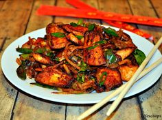 Indo-Chinese Chilli Fish (very good) http://www.AlphaDawgBlog.com