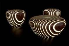 led lighting wood furniture