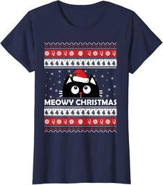 Amazon.co.jp: Meowy Cat アグリークリスマスセーター Tシャツ