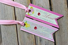 Girl Baby Shower Favor Tags.  Pink Lemonade //  Pink and Yellow // Sprinkle // Baby party decoration.  Set of 18 // Fully Assembled. by…