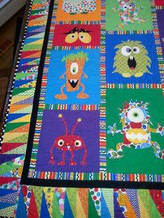 Mini Monster Quilt Pattern by mizpats on Etsy