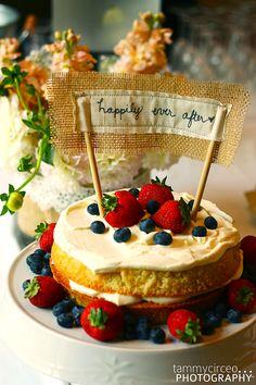Cake Topper for Victorian Sponge Cake