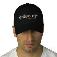 Missouri City Texas USA Embroidered Hats