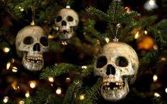 Christmas skulls.