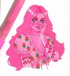 Strawberry Dress, Dark Disney, Lore Olympus, Doodle Inspiration, Dress Drawing, Persephone, Pretty Art, Floral Flowers, Art Reference