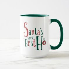 Santa's Very Best Ho | Funny Holiday Mugs | Gifts for Christmas Lovers | Adult Humor | Stocking Stuffers | I Love Christmas | Coffee Drinkers | Cute Mug | Inappropriate Humor | Unique Gifts for Her |