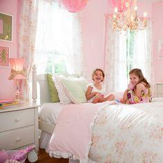 chandelier in girl's room - just like a fairytale!