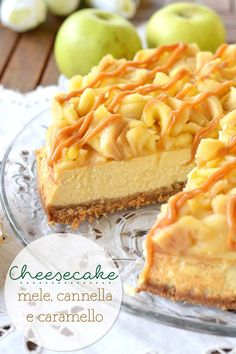 Sprinkles Dress: Cheesecake mele, cannella e caramello Sprinkles Dress: Apple, Cinnamon and Caramel Cheesecake Caramel Cheesecake, Cheesecake Recipes, Dessert Recipes, Just Desserts, Delicious Desserts, Yummy Food, Pie Co, Torte Cake, Eclairs