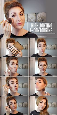This may seem intimidating, but once you see where you should place a contour color versus where you should apply a highlighter, you'll be able to sleep at night. Just remember to blend.