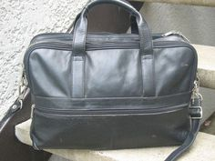 Heritage Used Black Soft Leather Briefcase #Heritage #BriefcaseAttache