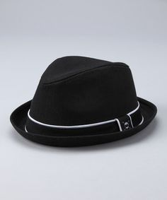 Another great find on #zulily! Black Skull Fedora by Born to Love #zulilyfinds