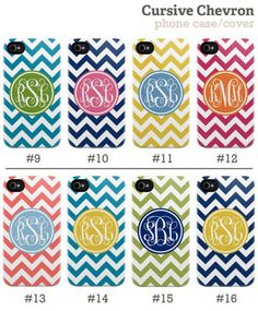 Chevron phone cases with your initials