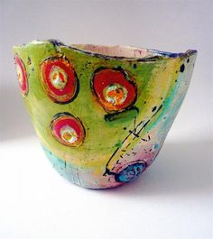 linda styles online sales of ceramic pots, bowls, jugs, beakers Ceramic Pots, Ceramic Decor, Ceramic Design, Ceramic Clay, Ceramic Pottery, Pottery Art, Hand Built Pottery, Paperclay, Pottery Bowls
