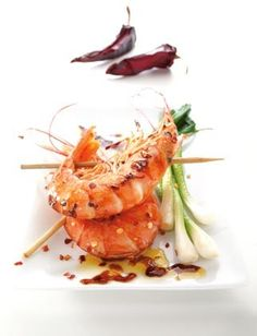 Recette de Crevettes rouges d'Argentine Pescanova caramélisées au piment
