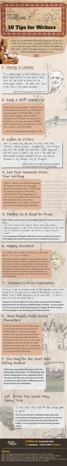 Tolkien's 10 Tips for Writers