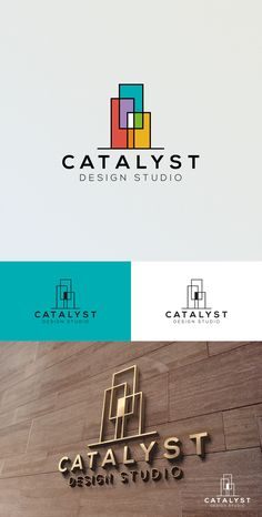 Modern logo by DonnDesign for Catalyst design studio. Colorful and abstract geometric shapes create a sophisticated and timeless design. #branding #architecture #modernism