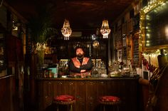 Several bartenders in Milan have taken to creating drinks, like the Surfer's Den's Ape Vigorosa, inspired by the freewheeling Futurist movement.