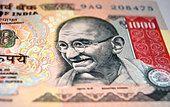 Mahatma Gandhi Photo on Indian Currency 1000 Rupee Banknote closeup view - Stock Photo Mahatma Gandhi Biography, Mahatma Gandhi Photos, Delhi India, New Delhi, Banknote, Museum, Indian, Stock Photos, Illustration