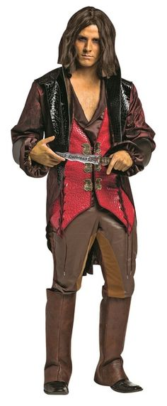 Rumplestiltskin Once Upon A Time Costume - Tick-Tock, dearie, tick-tock! Become the Dark One this Halloween with Rumplestilskin from Once Upon a Time costume. Comes with jacket, pants and wig. Great for Halloween, cos play, and going for a group costume with other Once Upon A Time characters. #YYC #Calgary #costume #OUAT #Rumplestiltskin