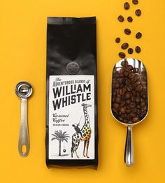 Packaging design for tea and coffee brand William Whistle by Horse.