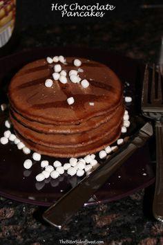 Hot Chocolate Pancakes - theBitterSideofSweet