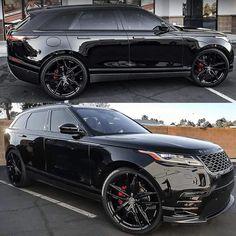 Blacked out Velar on Venom FB Finish Any Range Rover Fans? Range Rover Evoque, Range Rover Sport, Range Rovers, Top Luxury Cars, Luxury Suv, Suv Cars, Sport Cars, Cars Auto, Carros Suv
