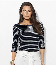 Lauren Ralph Lauren Stripe Boatneck Top #Dillards