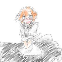 Maid Outfit Anime, Anime Maid, Bungou Stray Dogs Chuya, Stray Dogs Anime, Anime Traps, Drawing Now, Digital Art Anime, Chuuya Nakahara, Dazai Osamu