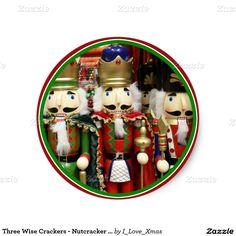 Three Wise Crackers - #Nutcracker #Christmas Soldiers Sticker by #I_Love_Xmas #Zazzle #Gravityx9 -